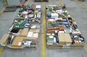 4 PALLETS OF ASSORTED ELECTRONICS, RELAYS, MODULES, CONTROLLERS