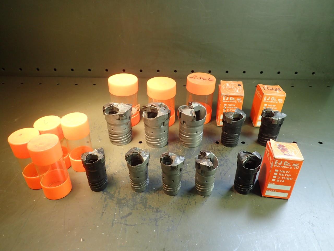10 Pcs E-J Co Carbide Ejector Deep Hole Boring Drill Tips 1.380\