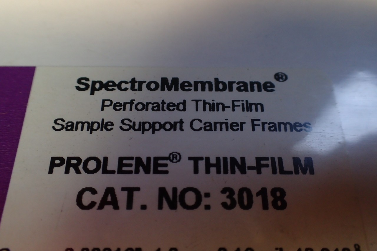 100 Pcs of Chemplex SpectroMembrane Thin-Film Sample Support Carrier Frames 3018