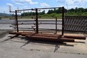 LOT OF STEEL RACKING, STEEL PLATES AND STEEL PIPING