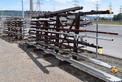 LOT OF STEEL RACKING. STEEL PIPING IS INCLUDED