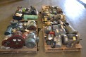 4 PALLETS OF ASSORTED AC/DC MOTORS, .25 HP-12HP
