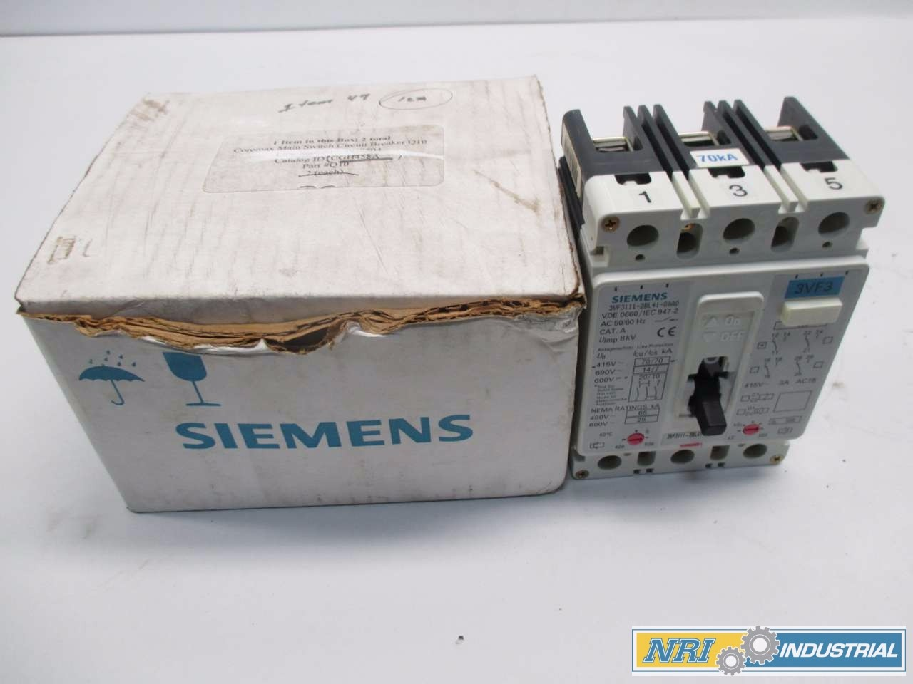 NEW SIEMENS 50 A CIRCUIT BREAKER