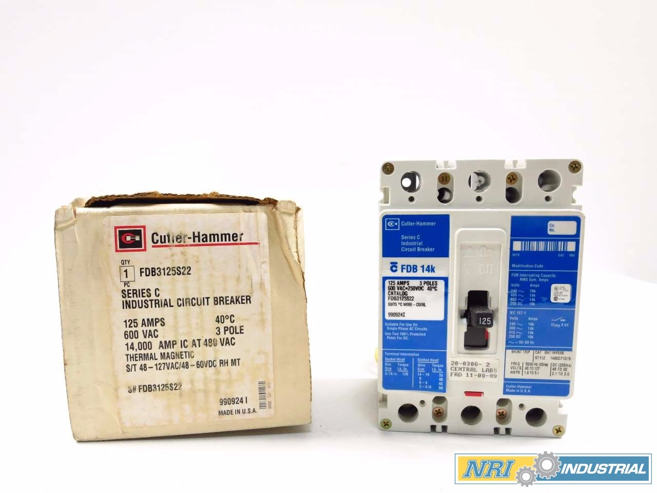 NEW CUTLER HAMMER 125 A CIRCUIT BREAKER