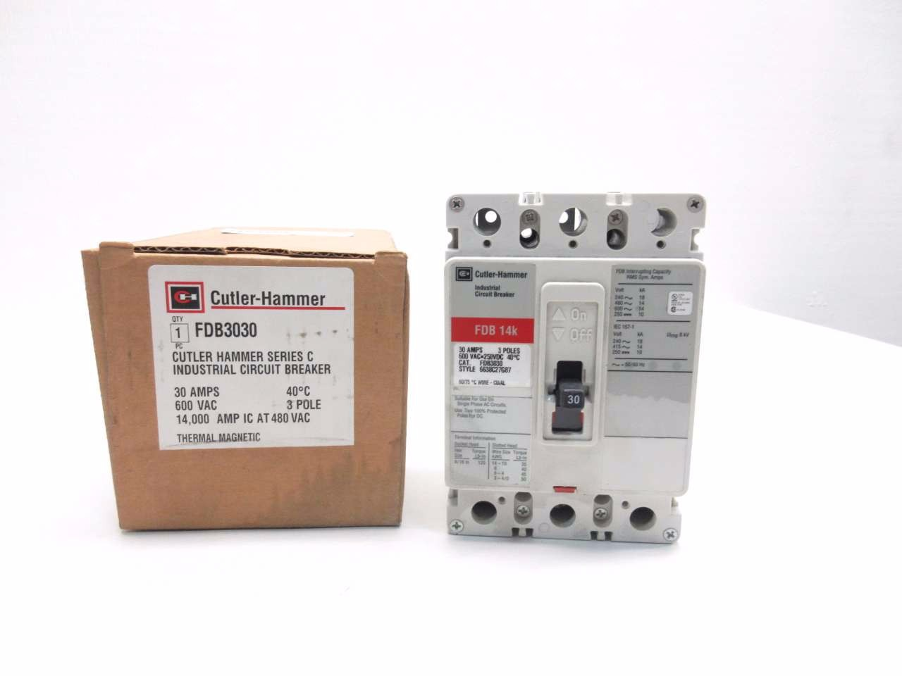 NEW CUTLER HAMMER 30 A CIRCUIT BREAKER