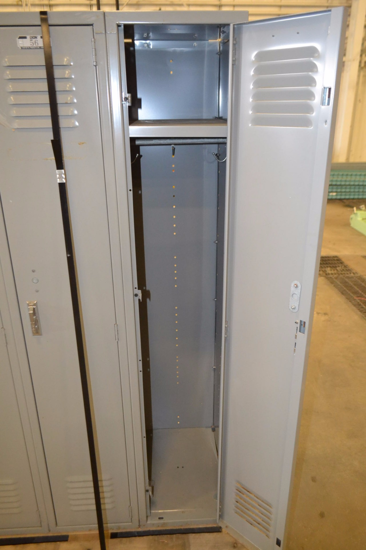 LOT OF 3 FULL HEIGHT METAL LYON LOCKERS