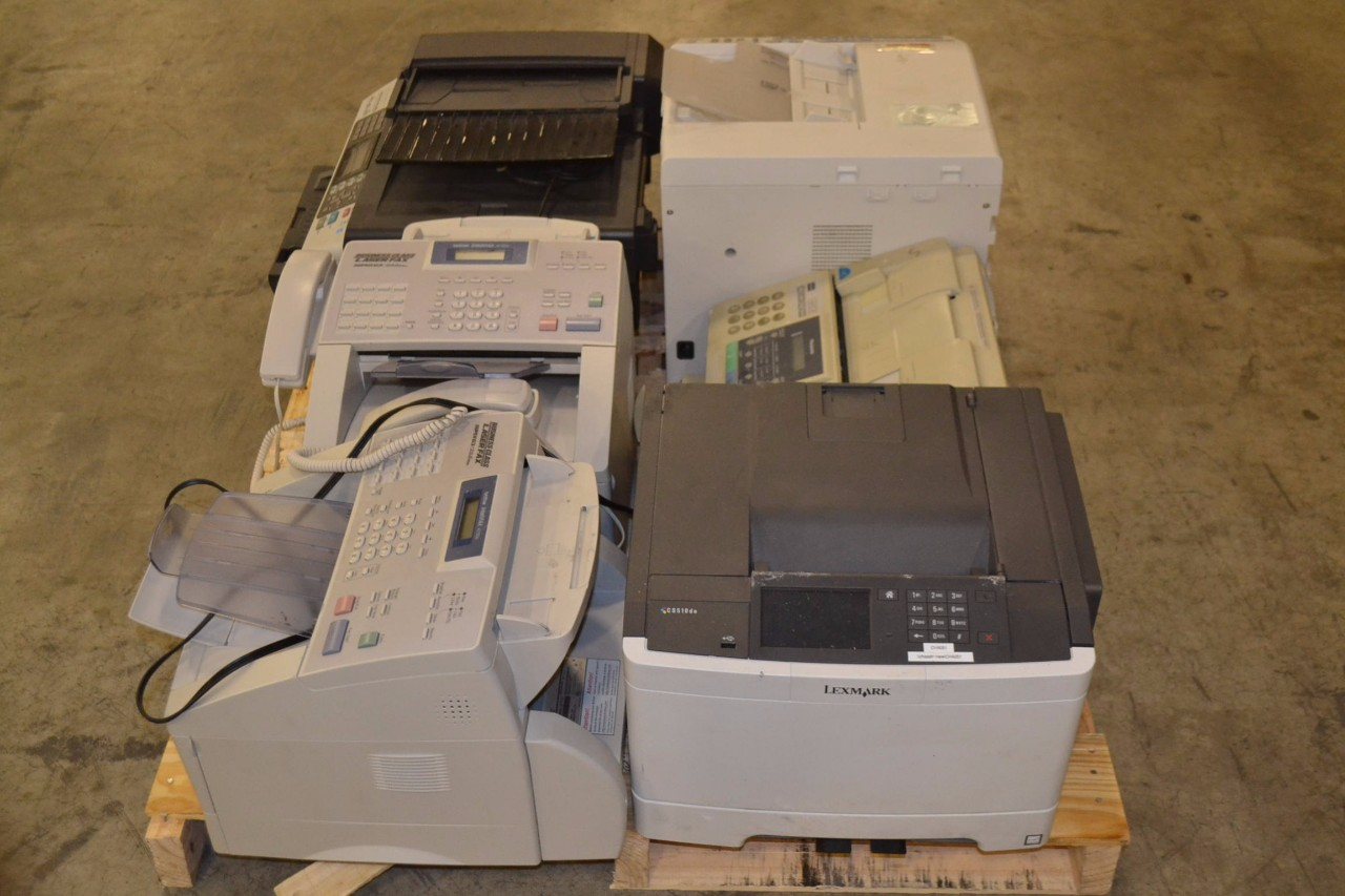 1 PALLET OF ASSORTED MULTIFUNCTION LASER PRINTERS