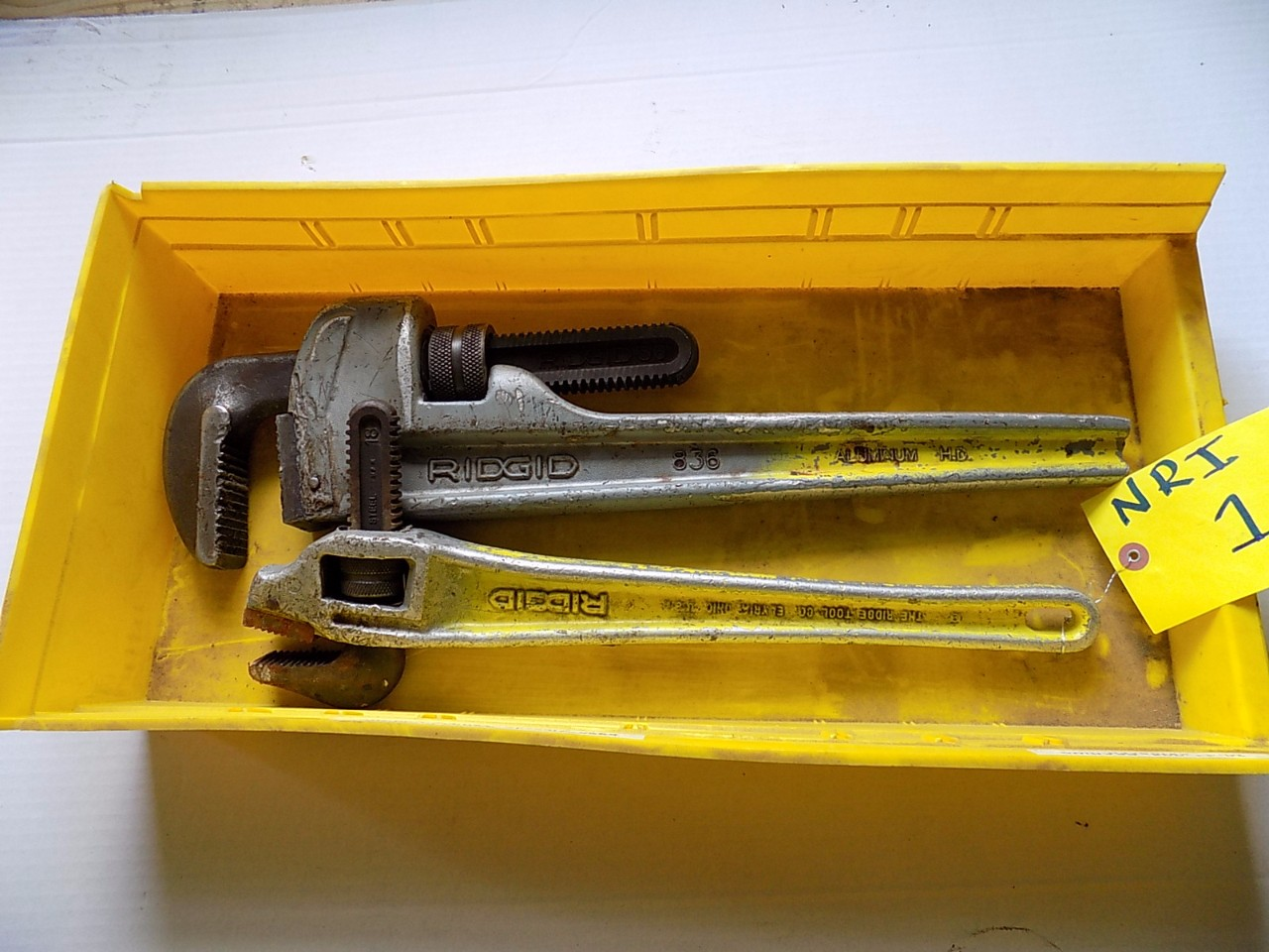 LOT OF RIGID PIPE WRENCHES
