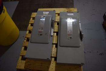 LOT OF 2 GOULD F354 200A AMP 600V-AC DISCONNECT SWITCH