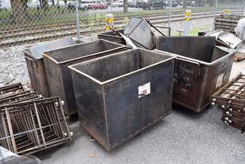 LOT OF 7 STEEL BINS