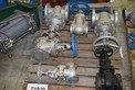 [TEST LOT] LOT OF ASSORTED 1.5IN TO 4 IN STEEL WEDGE GATE VALVES VELAN, TY, NEWAY