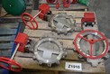 [TEST LOT] LOT OF 3 BRAY CONTROLS 411200-11001068 12 INTO 14 IN CLASS 150 STAINLESS BUTTERFLY VALVES