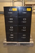 [TEST LOT] LOT OF 2 METAL HON FILING CABINETS