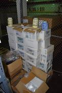 1 PALLET OF ASSORTED CONTENTS - CLARITY SOLID RINSE ADDITIVE, PLASTIC BAGS