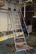 COTTERMAN 10 STEP ROLLING LADDER