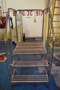 2 STEP STEEL PLATFORM - PLATFORM DIMENSIONS ~35 X 37\
