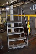 COTTERMAN 5 STEP PLATFORM ROLLING LADDER