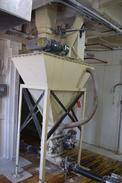 CAMCORP HOPPER BIN WITH 2 X SNOOT ROTARY VALVES AND GEAR MOTORS