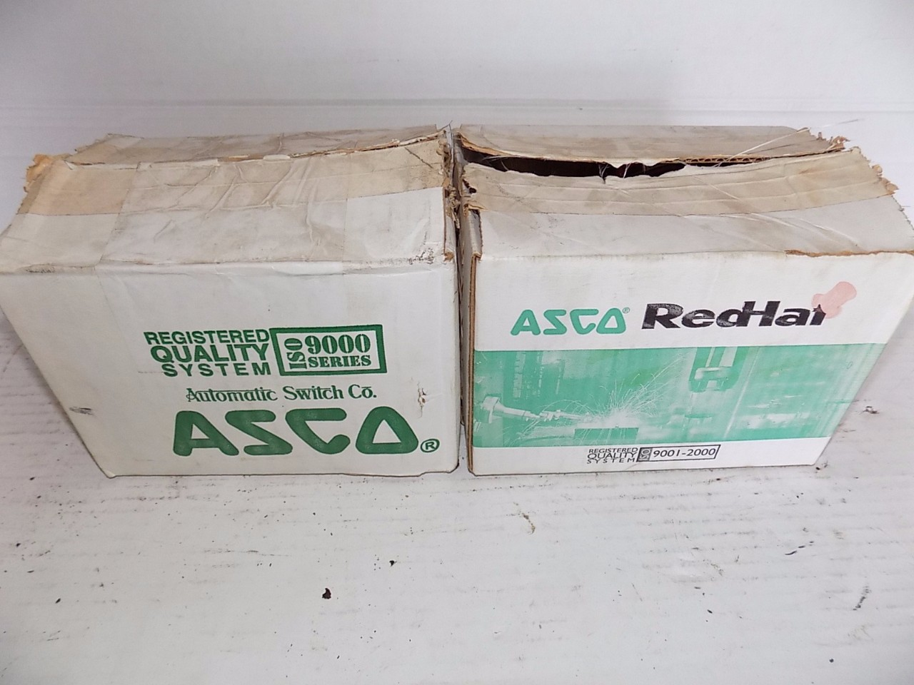 LOT OF 2 ASCO BRASS SOLINOID VALVES