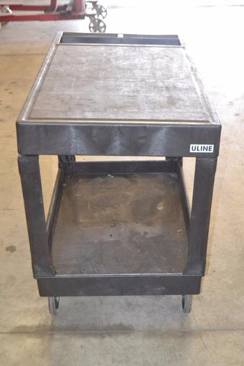 2-TIER PLASTIC UTILITY CART
