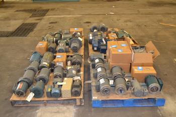 4 PALLETS OF ASSORTED AC/DC MOTORS, .25 HP-7.5HP