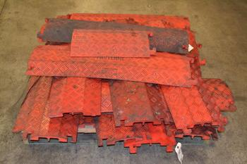 1 PALLET OF ASSORTED CHECKERS FASTLANE CABLE PROTECTORS