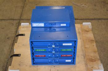 LOT OF 2 FASTENAL HARDWARE CABINETS, WITH CONTENTS