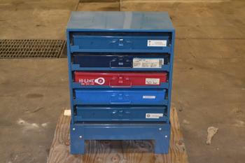 FASTENAL HARDWARE STORAGE CABINET, WITH CONTENTS