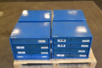 LOT OF 4 FASTENAL HARDWARE CABINETS, WITH CONTENTS