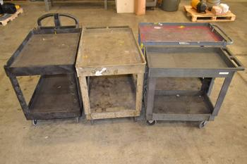 LOT OF 4 ASSORTED UTILITY CARTS