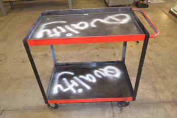 2-TIER STEEL UTILITY CART