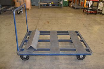 INDUSTRIAL PALLET TRANSPORT CART, STEEL