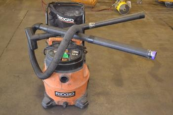 RIDGID PROFESSIONAL SHOP VAC, 16 GALLON, 6.5HP