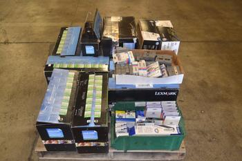 1 PALLET OF ASSORTED PRINTER CARTRIDGES