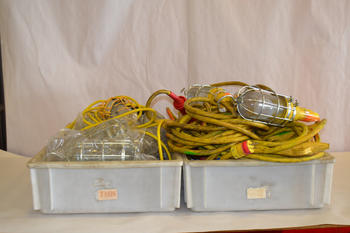 LOT OF LIGHT CAGES AND 3 SETS OF TROUBLE LIGHTS