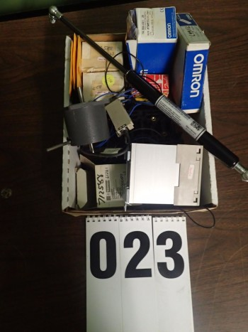 Assorted NOS Surplus Electronics Including Solenoids, Relays, and Contacts