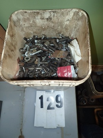 Bucket of Hardware incl. Bolts, Nuts, Washers, Anchors, Etc