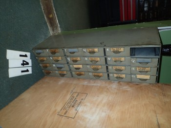 Gray Steel Parts Cabinet w/ 23 Drawers