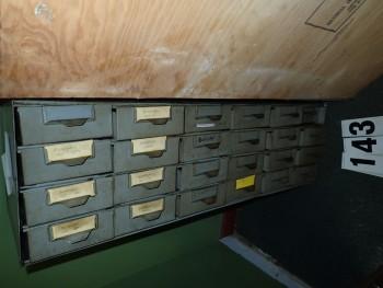 24- Bin Gray Steel Parts Cabinet
