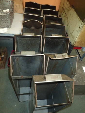 13 Long Steel Bins