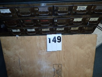18 Drawer Steel Cabinet W/ Contents