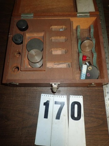 Mitutoyo Hardness Tester Anvils Accessories & Wood Case