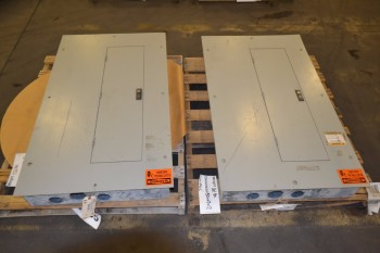 LOT OF 2 ASSORTED DISTRIBUTION PANELS, WESTINGHOUSE