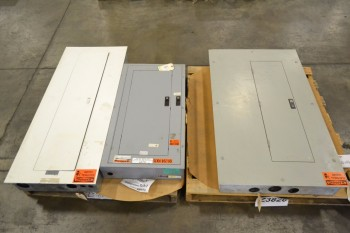 LOT OF 3 ASSORTED DISTRIBUTION PANELS