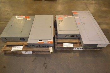 LOT OF 4 ASSORTED DISTRIBUTION PANELS