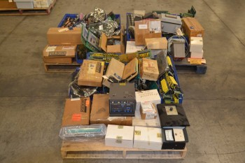 3 PALLETS OF ASSORTED CONTROLS, CONTROLLERS, FOXBORO
