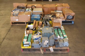 3 PALLETS OF ASSORTED ELECTRICAL CONTROLS