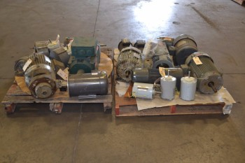 2 PALLETS OF ASSORTED AC/DC ELECTRIC MOTORS