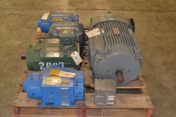 1 PALLET OF ASSORTED AC/DC ELECTRICAL MOTORS
