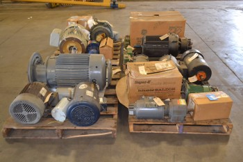 4 PALLETS OF ASSORTED AC/DC ELECTRIC MOTORS